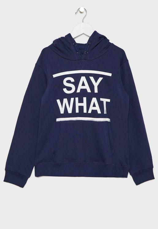 Teen Say What Hoodie