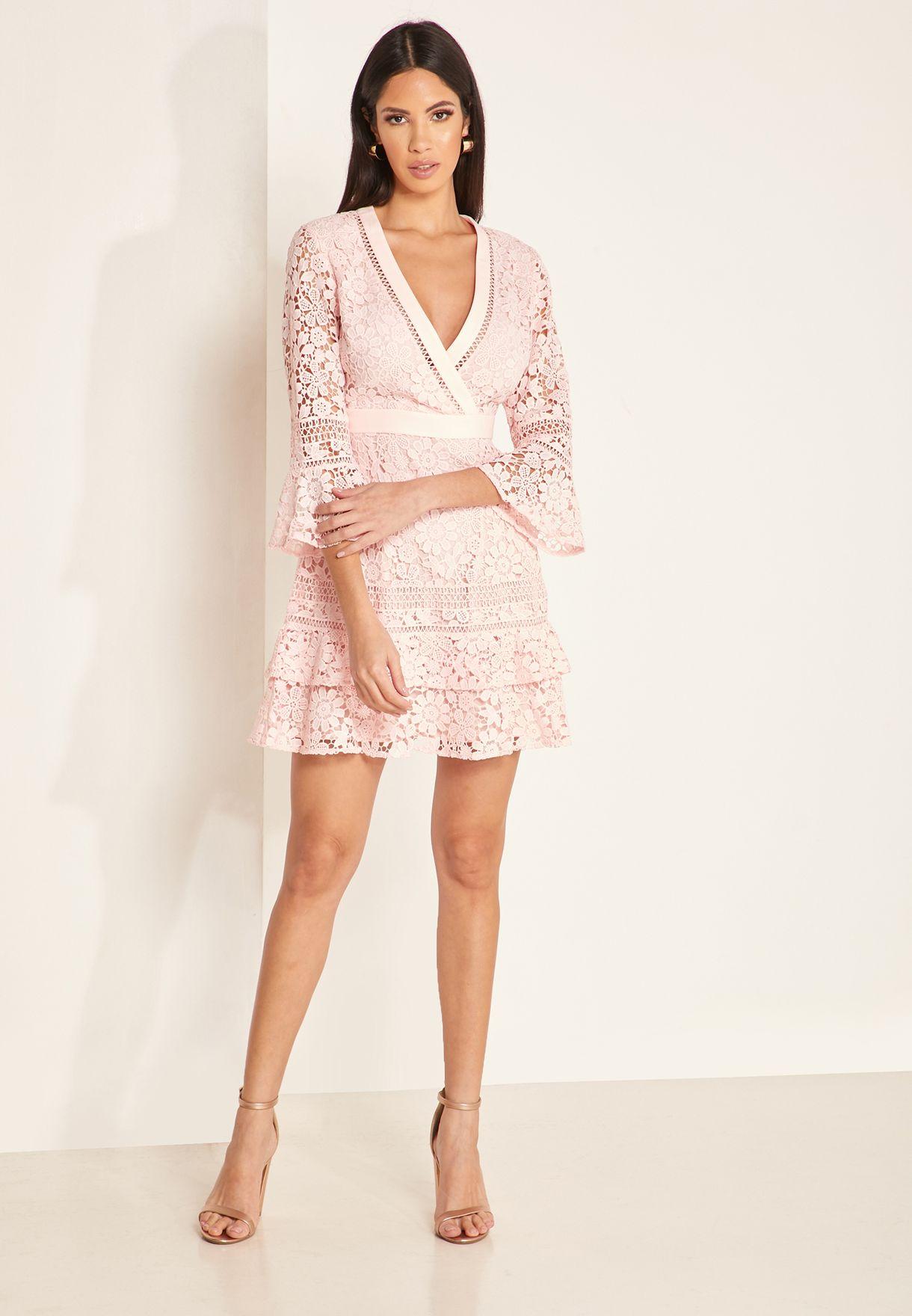 Nello Flute Sleeve Lace Dress