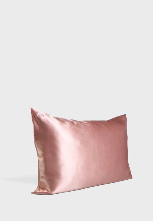غطاء وسادة حرير بحجم كوين - وردي