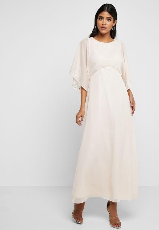 e14f0e451e Wide Sleeve Maxi Dress