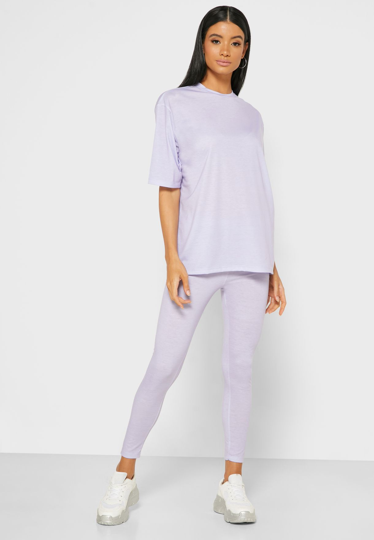 Oversized T-Shirt Leggings Set