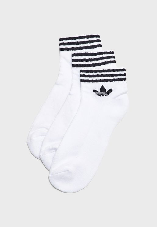 3 Pack Trefoil Adicolor Casual Unisex Ankle Socks