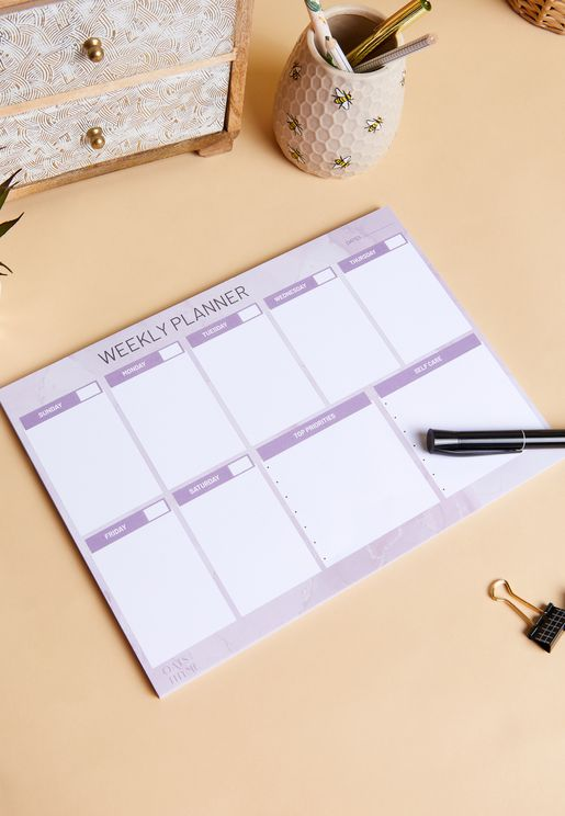 دفتر تخطيط اسبوعي باللغة الانجليزية