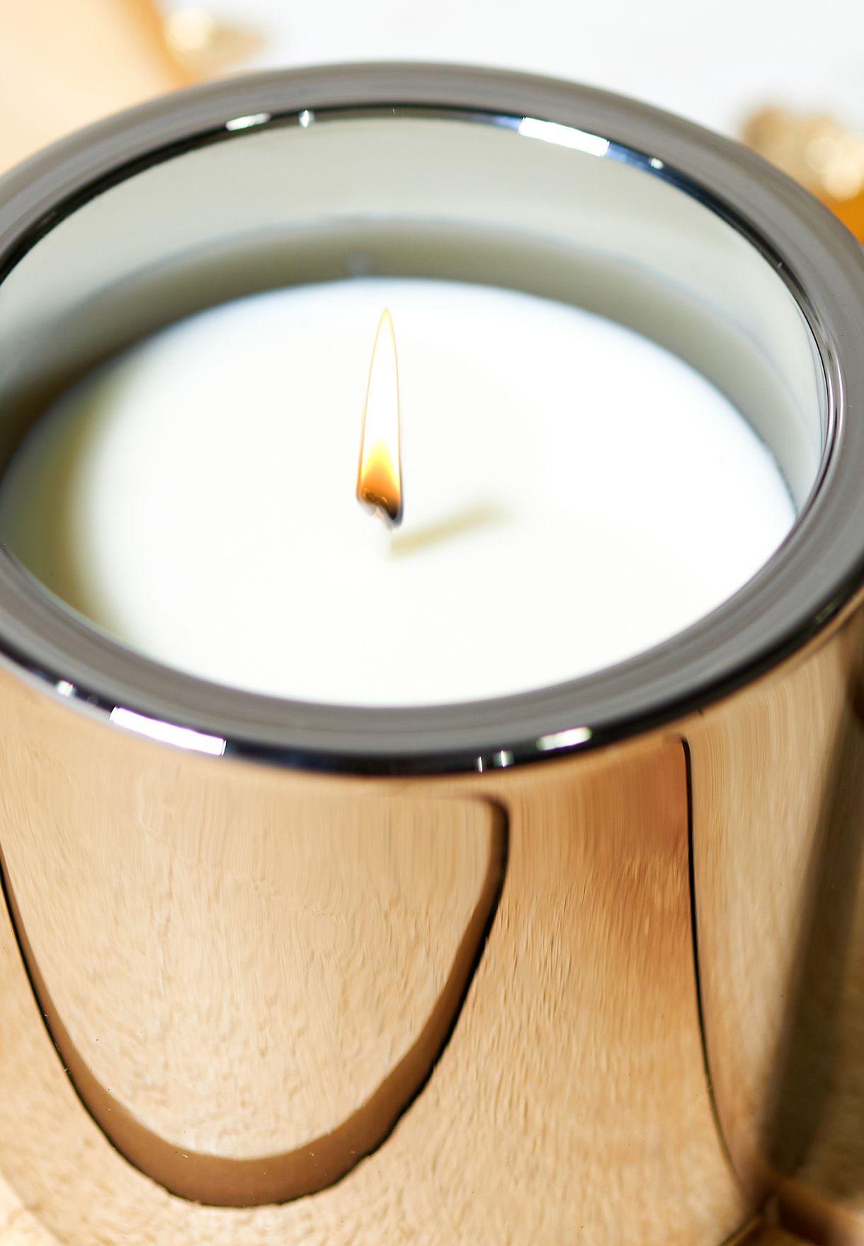 شمعة عطرية بالعنبر الأسود والحمضيات 200 مل