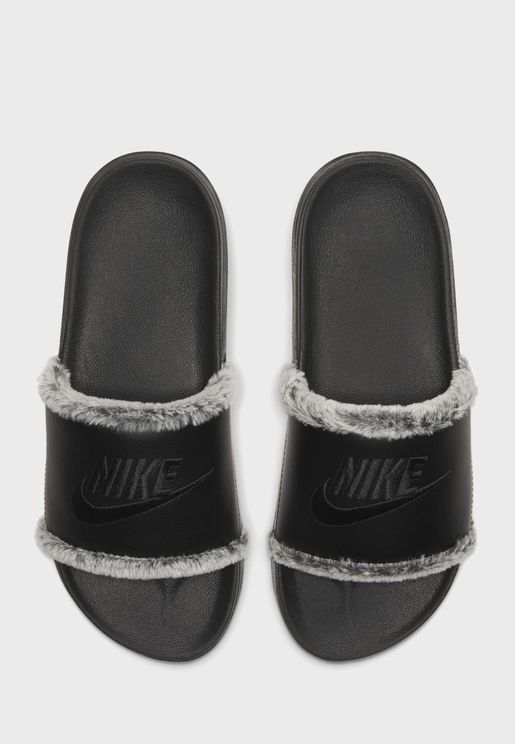 Offcourt Slide Faux Fur