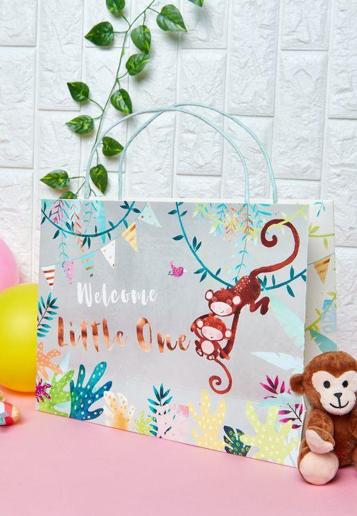 Baby Monkey Shopper Gift Bag
