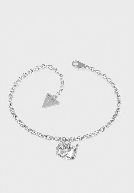 Chain Crown Pendant Bracelet