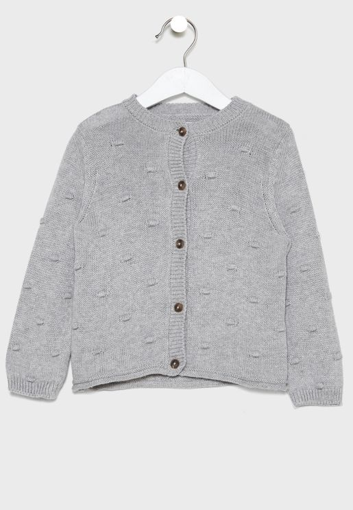 Kids Knitted Button Cardigan