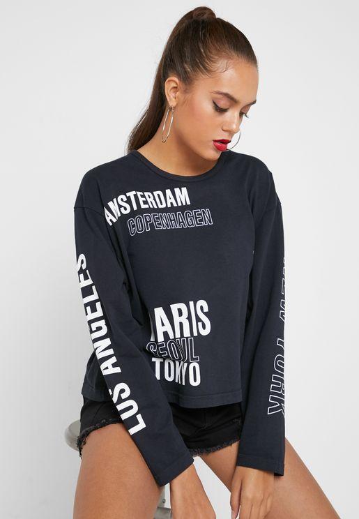 International Cities Abstract T-Shirt