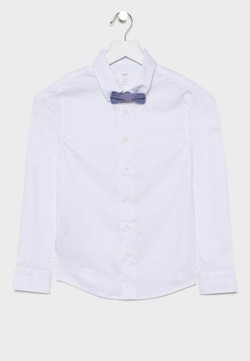 قميص مع فيونكة