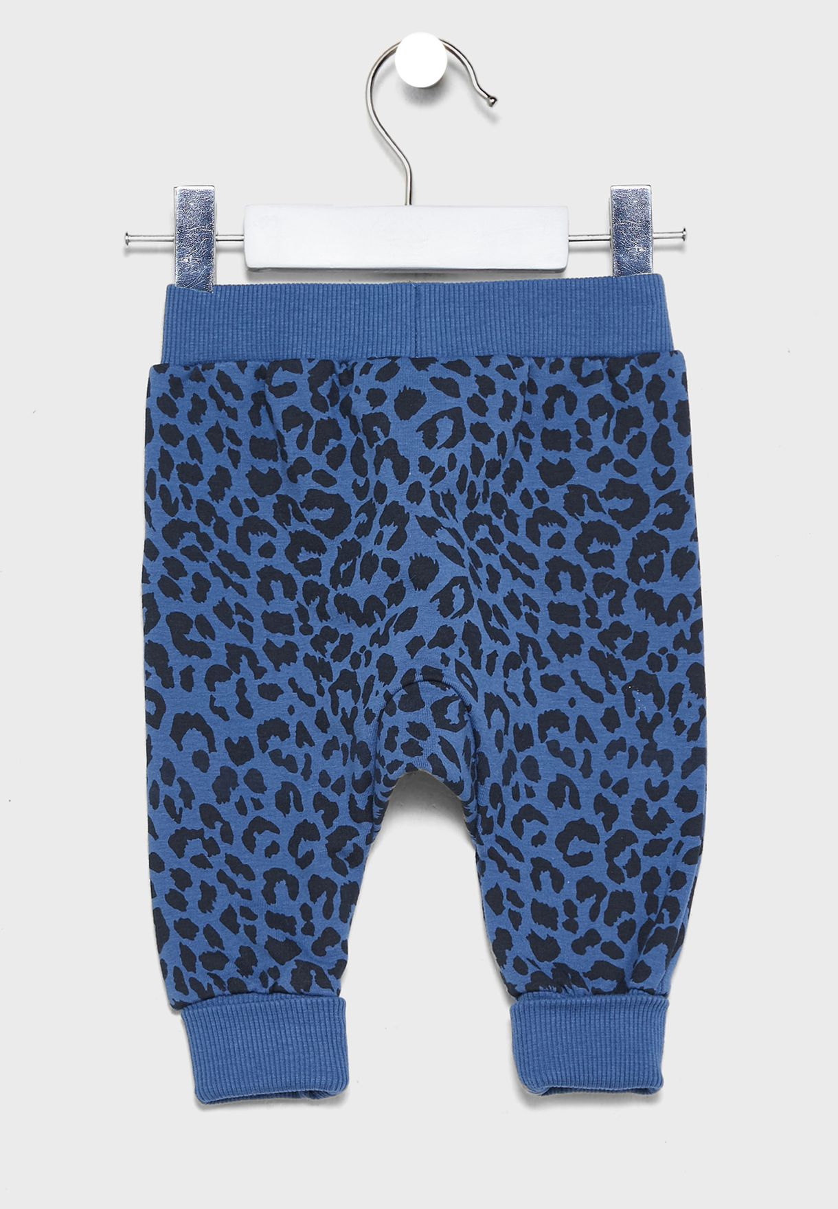 Infant Leopard Print Cuffed Sweatpants