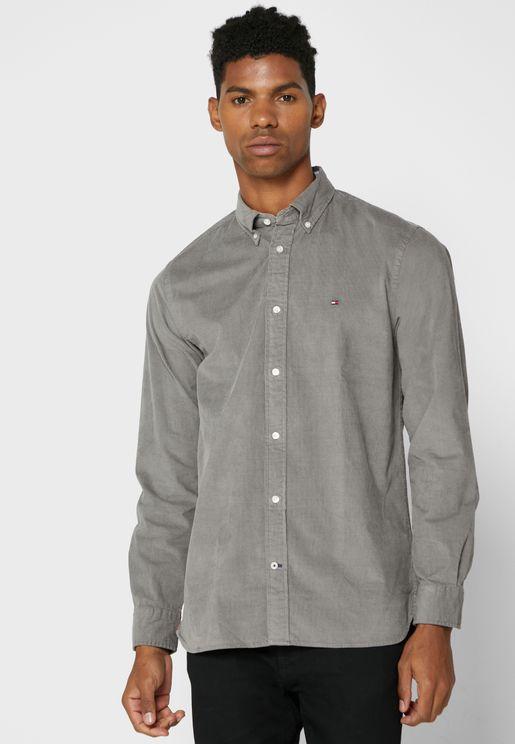 Corduroy Slim Fit Shirt