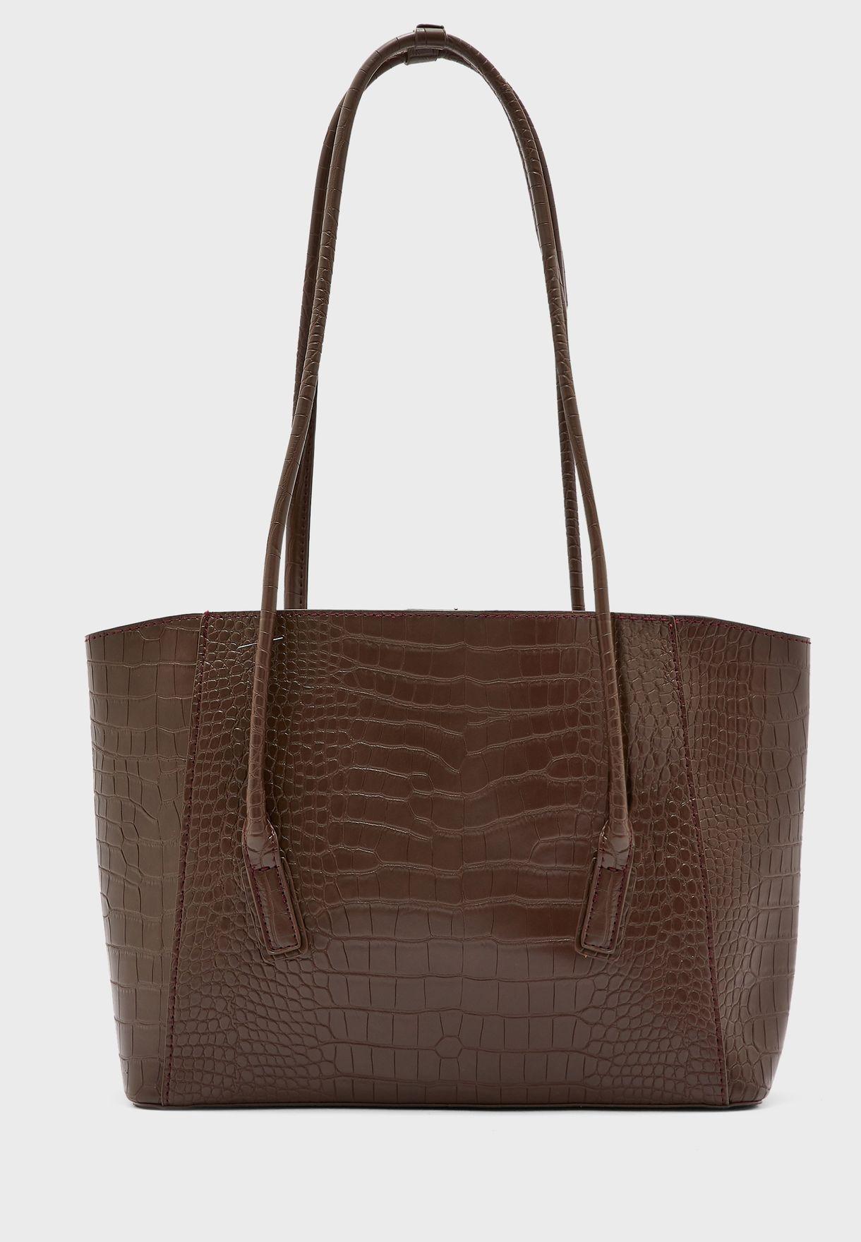 Long Strap Croc Tote Bag