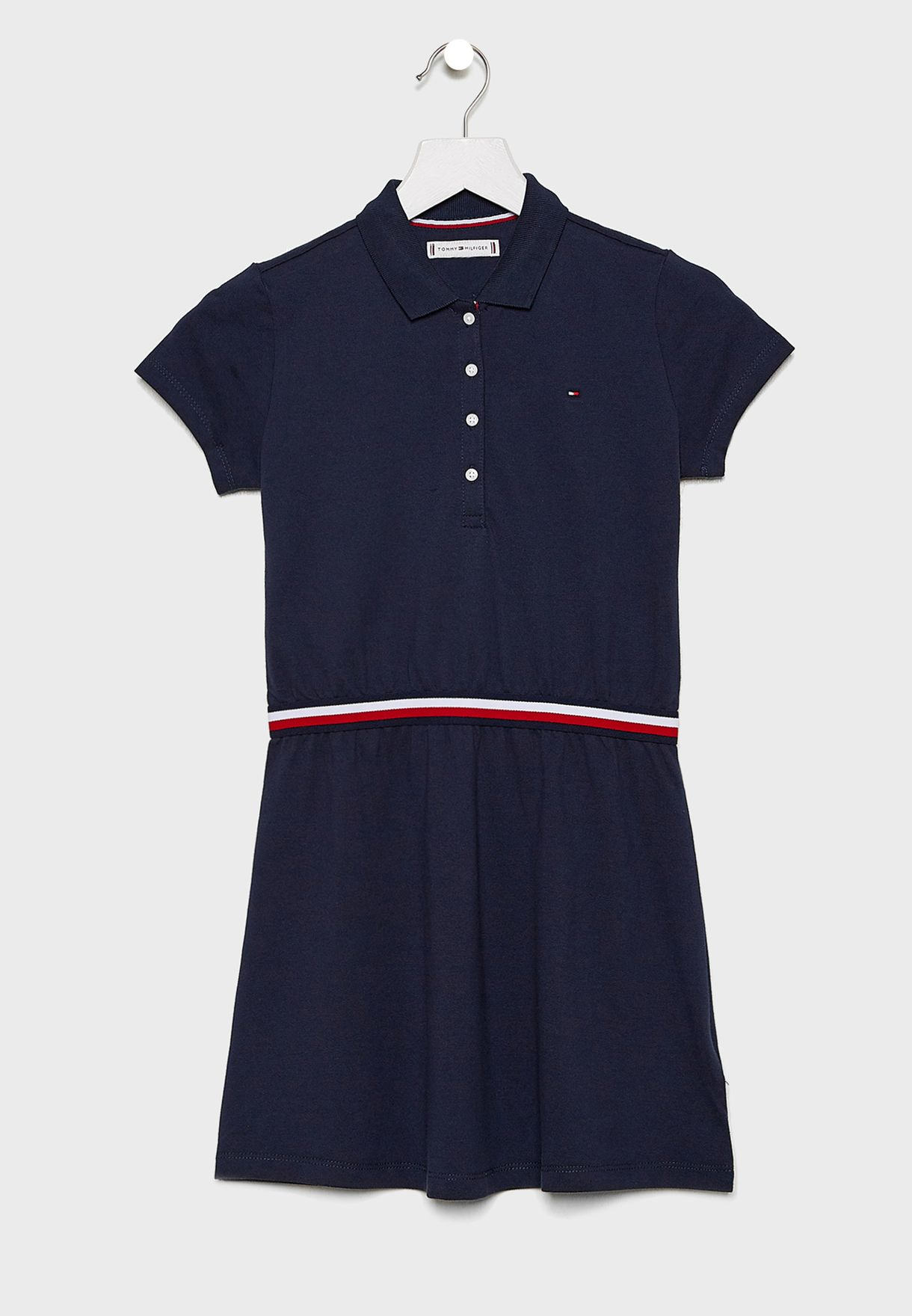 Teen Stripe Detail Polo Dress