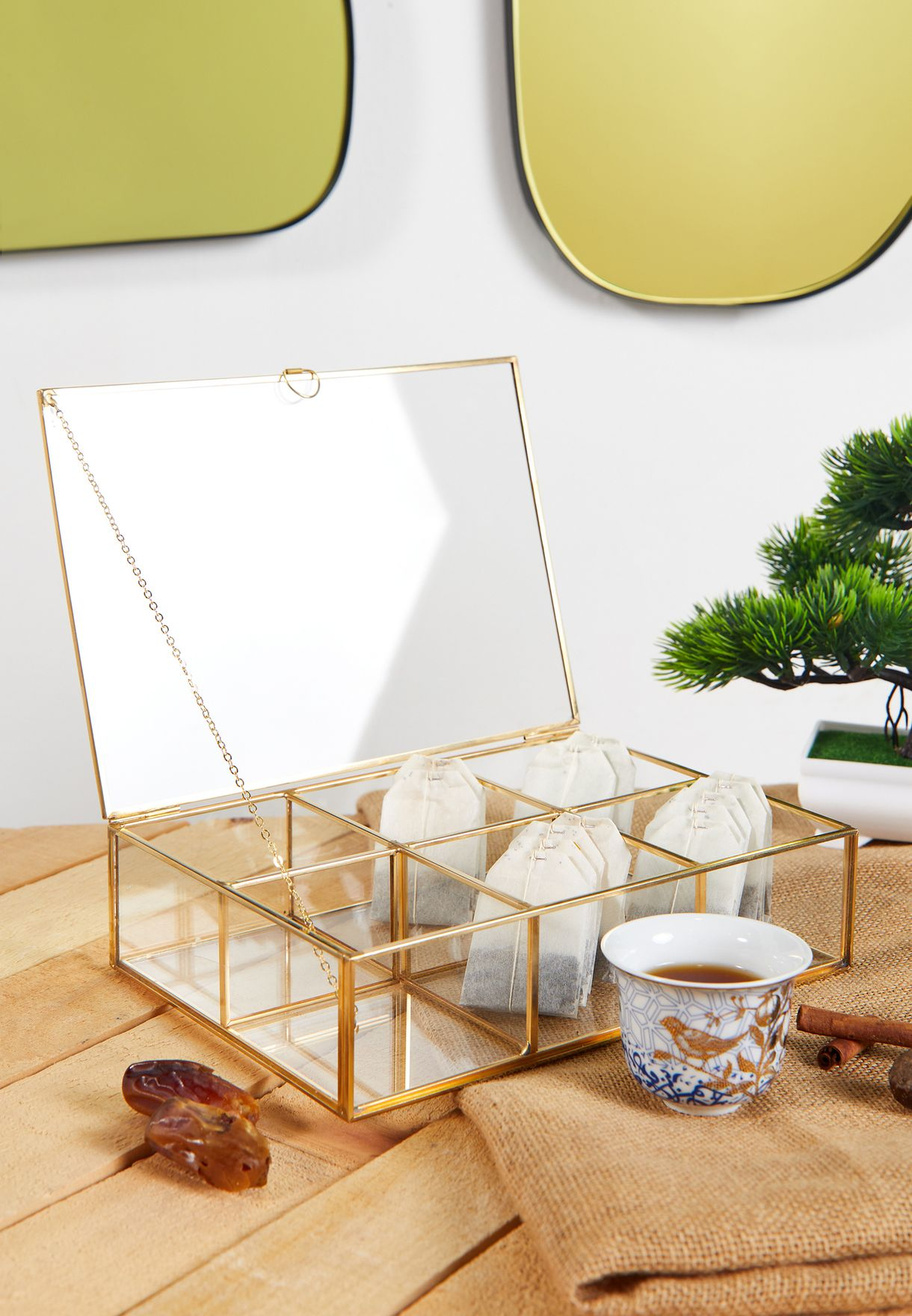 Glass Tea Storage Box