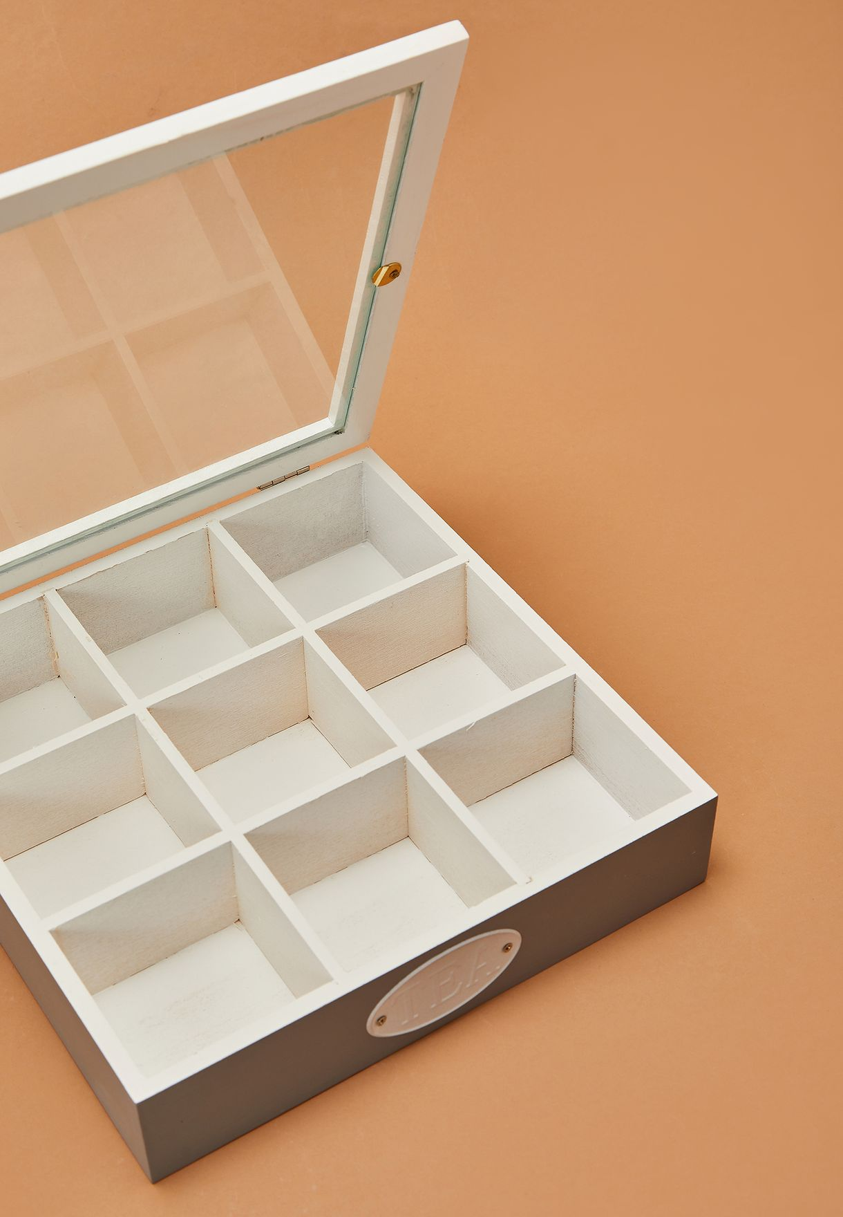 9 Compartment  Tea Storage Box