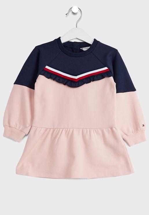 Kids Ruffle L/S Dress