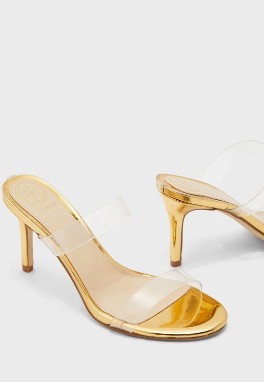 Adanr High Heel Sandal - Clear