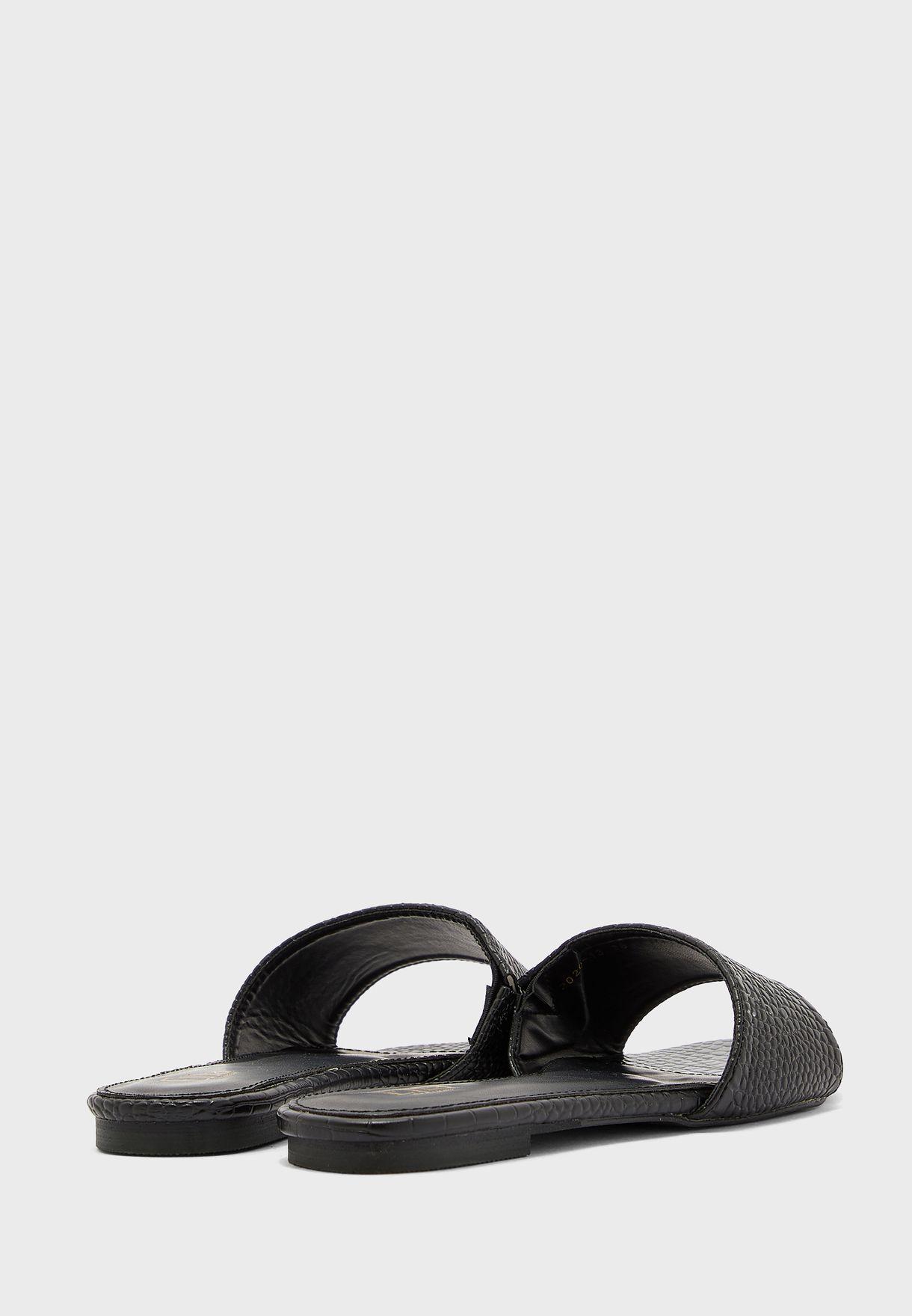 Croc Slip On Flat Sandal