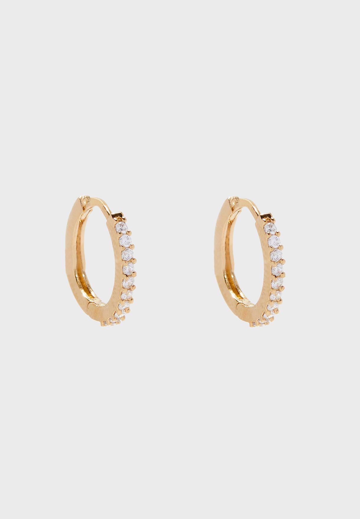 Mini Pave Hoop Earrings