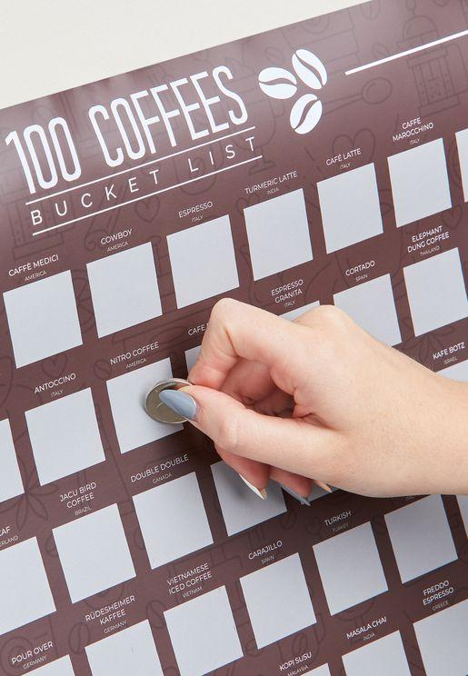 ملصق خدش القهوة