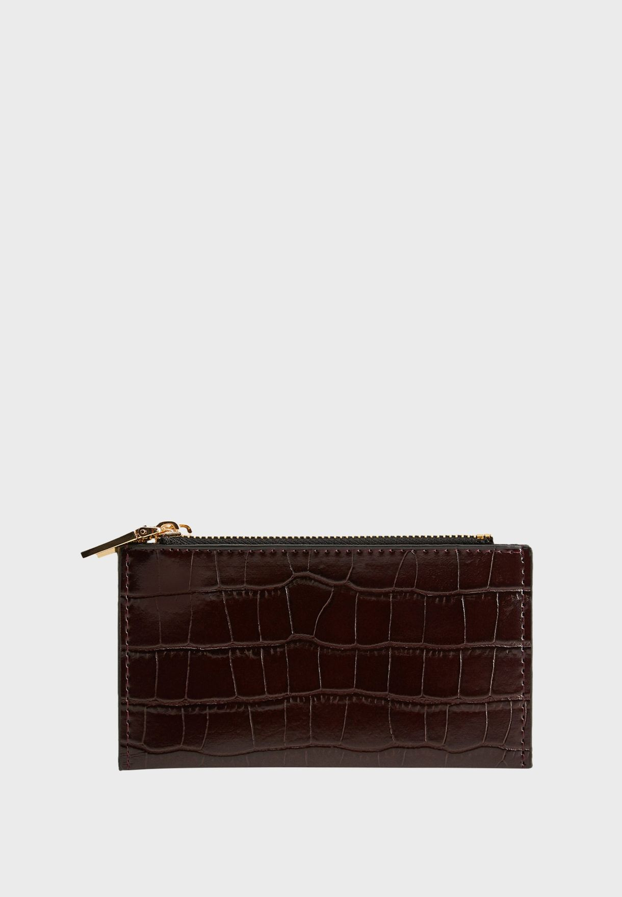 Malaga Top Zip Textured Purse