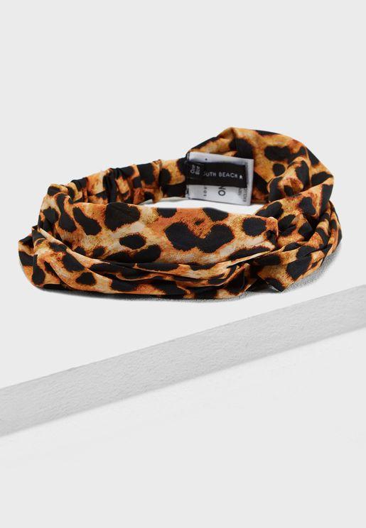 ربطة رأس بطبعات فهد