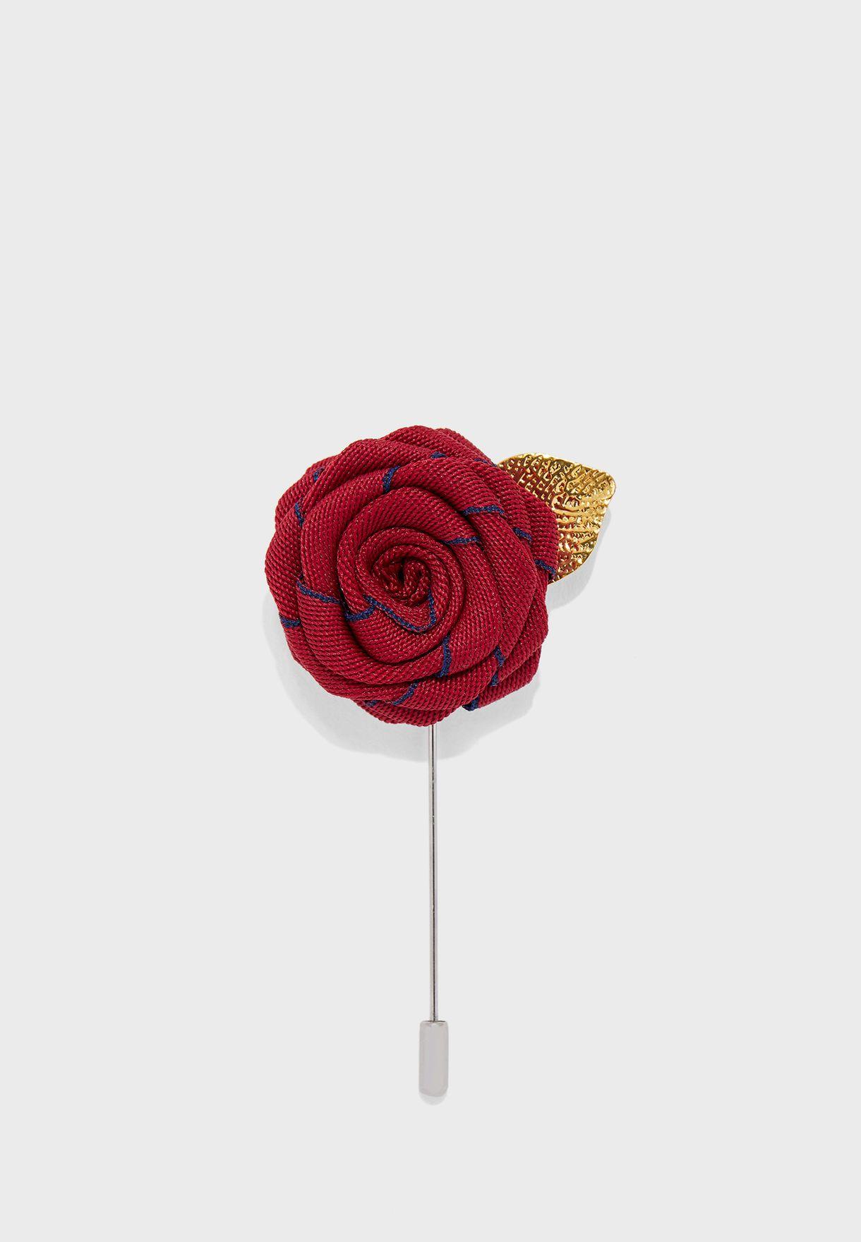 Rose Flower Lapel Pin