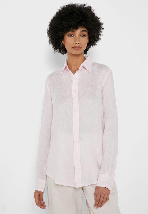 Dye Linen L-Shirt