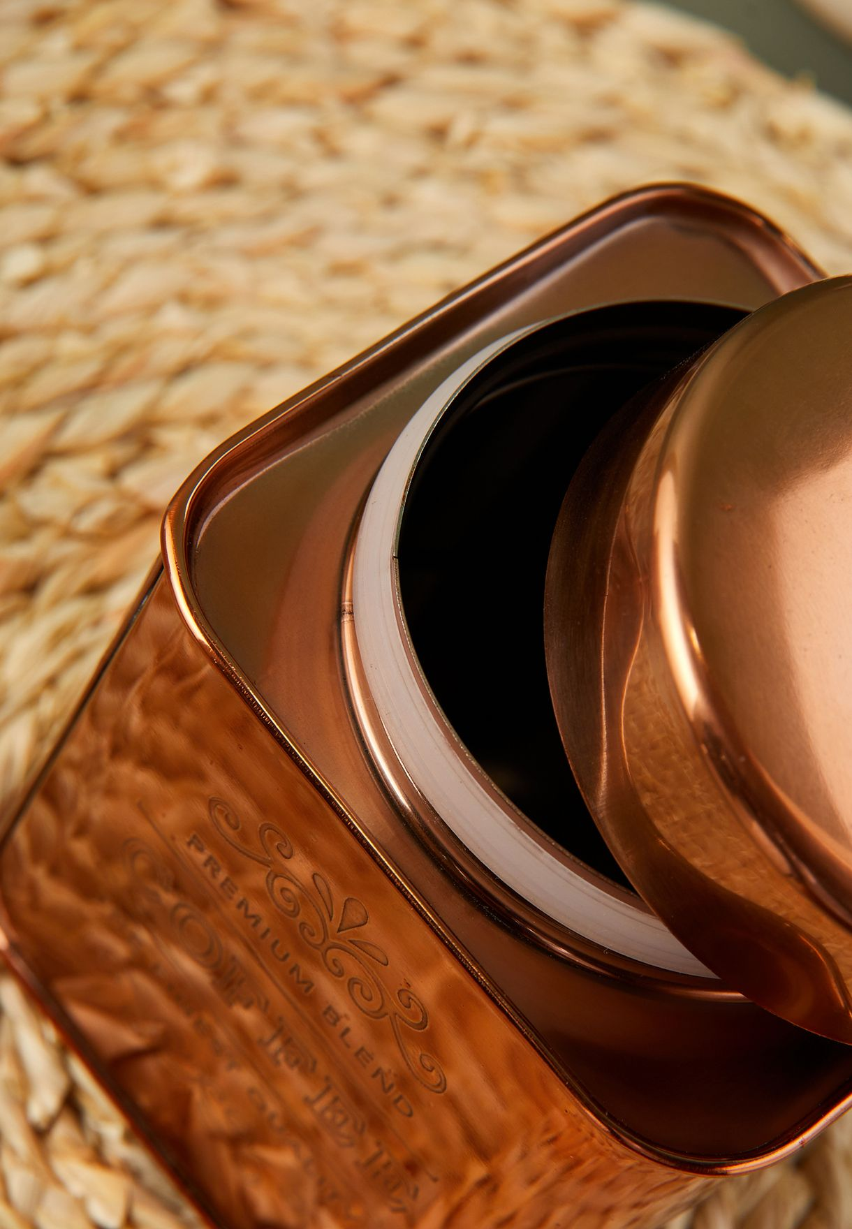 Copper Finish Coffee Canister