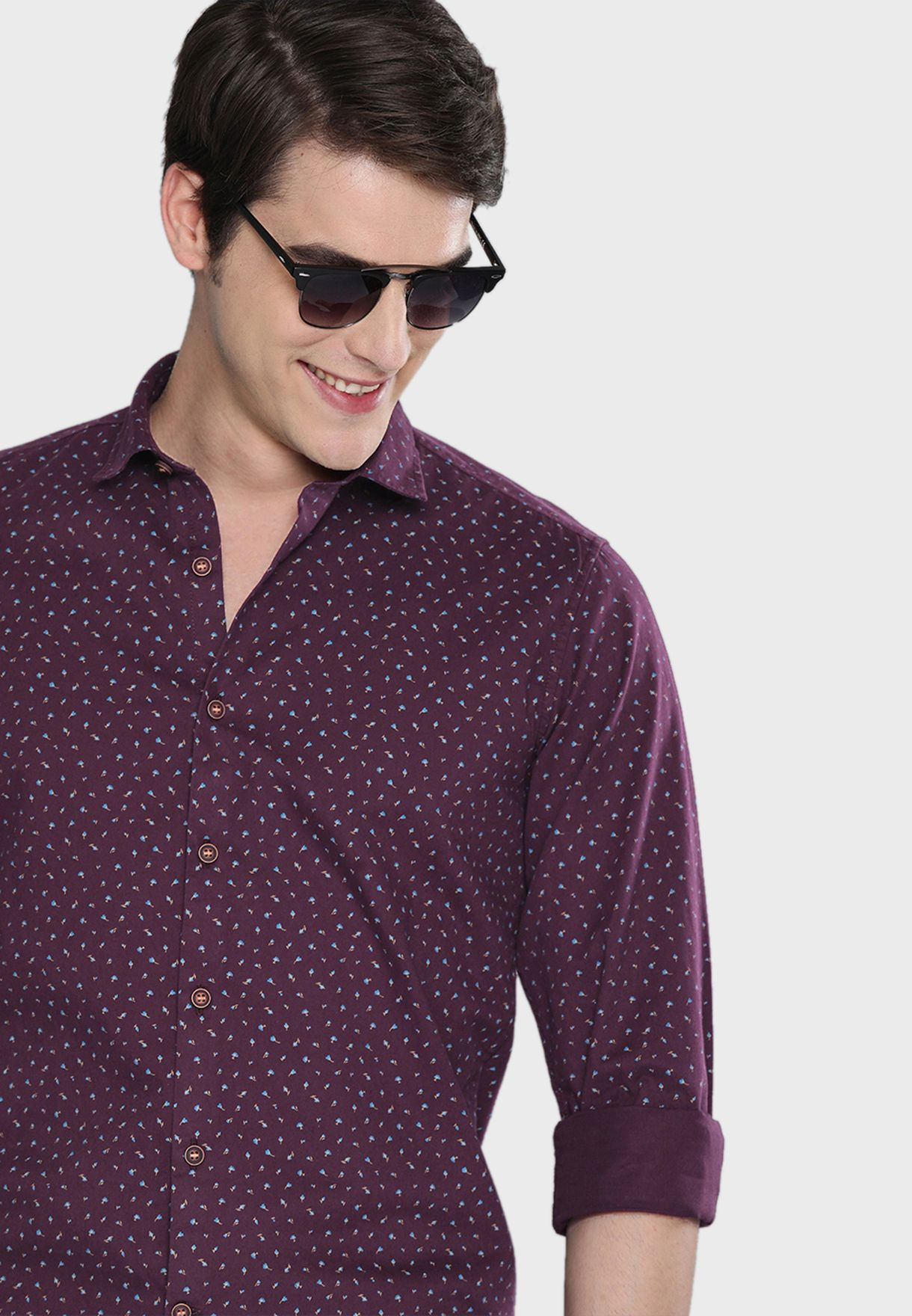 Geo Print Regular Fit Shirt