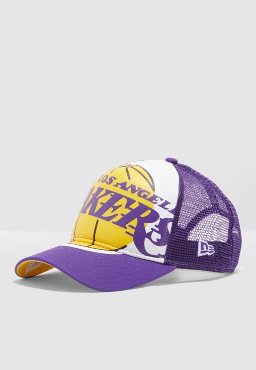 217ae81fe2dc5 9Forty Los Angeles Lakers Retro Trucker Cap