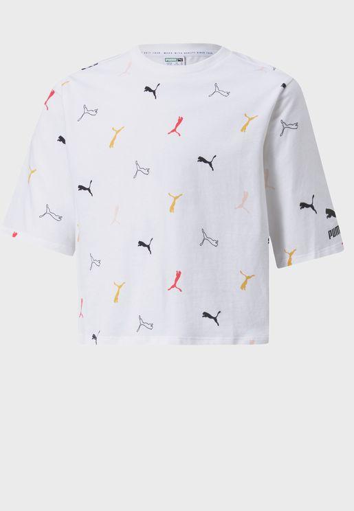 Youth Classics Graphic Aop Boyfriend T-Shirt