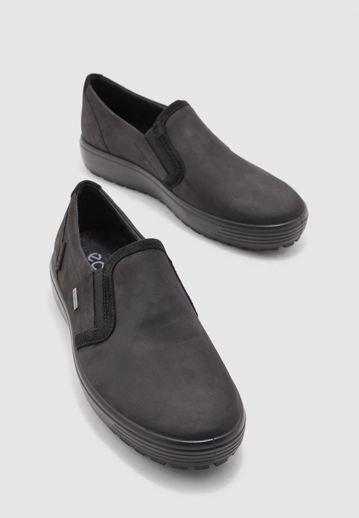 Buy Ecco black Soft 7 Tred M Slip Ons