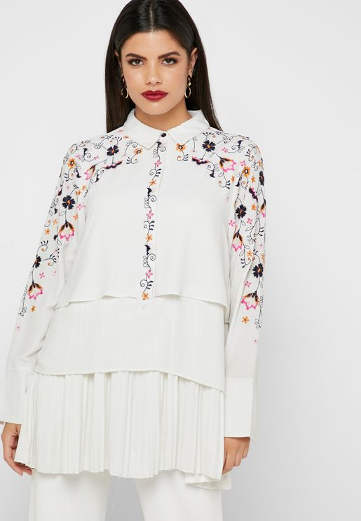 Embroidered Layered Shirt
