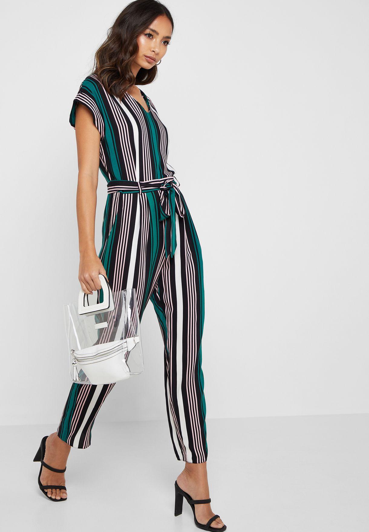 d33e2366e243 Shop Dorothy Perkins Petite multicolor Striped Printed Jumpsuit ...