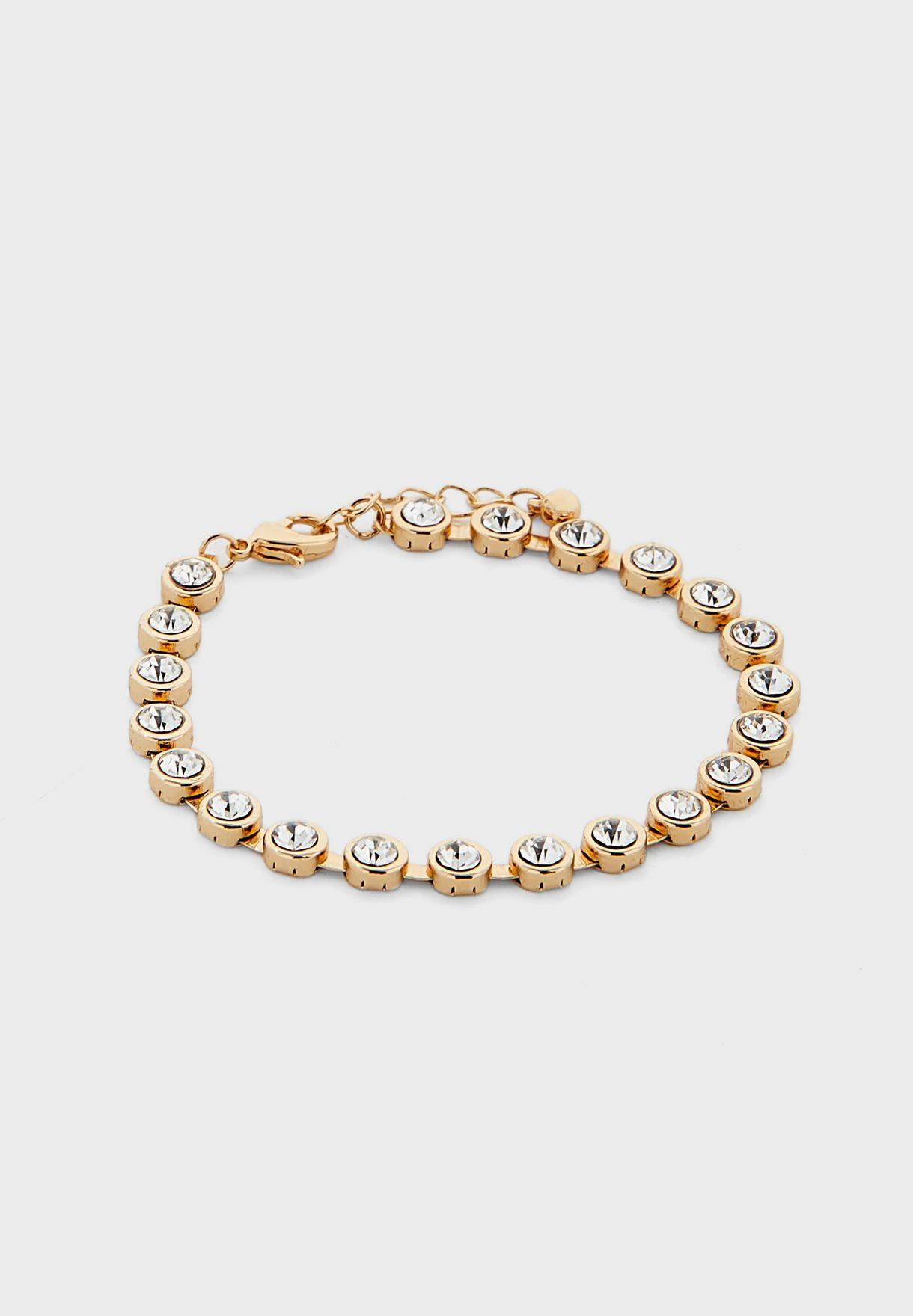 Circle Stone Necklace Earring, Bracelet Ring Set