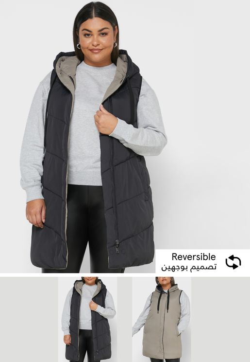 Faux-Fur Collar Quilted Jacket