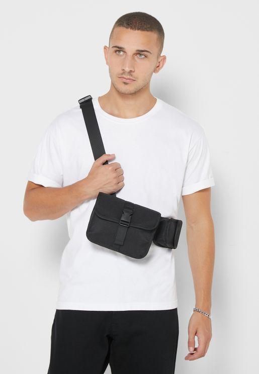 Pocket Detail Messenger Bag