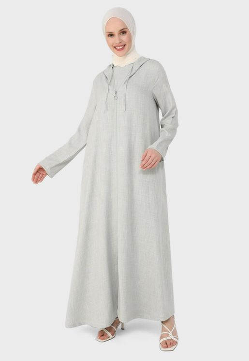 Zip Detail Abaya