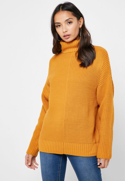 Roll Neck Oversize Sweater