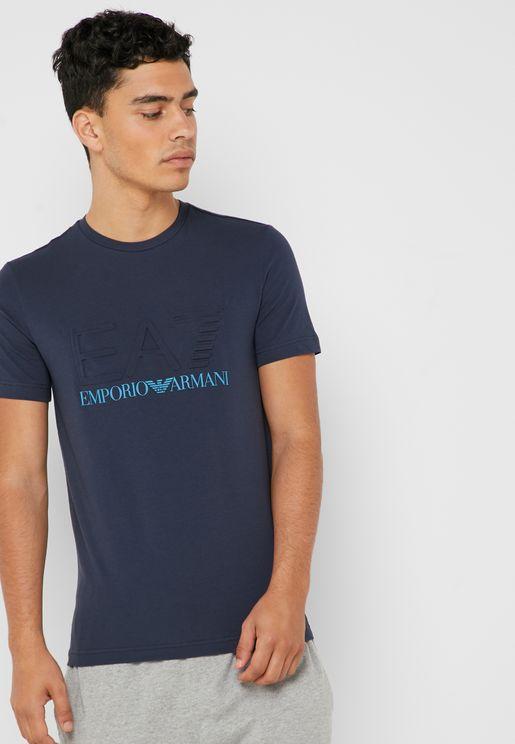 25782d4264ed9 Special Logo Crew Neck T-Shirt. PREMIUM. EA7 Emporio Armani. Special Logo  Crew Neck ...