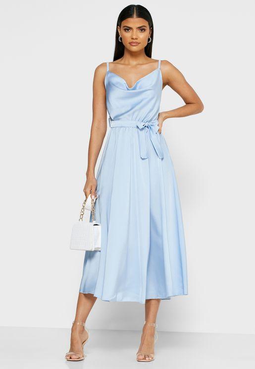 Self Tie Maxi Dress