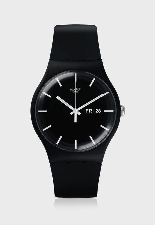 Mono Black Analog Watch