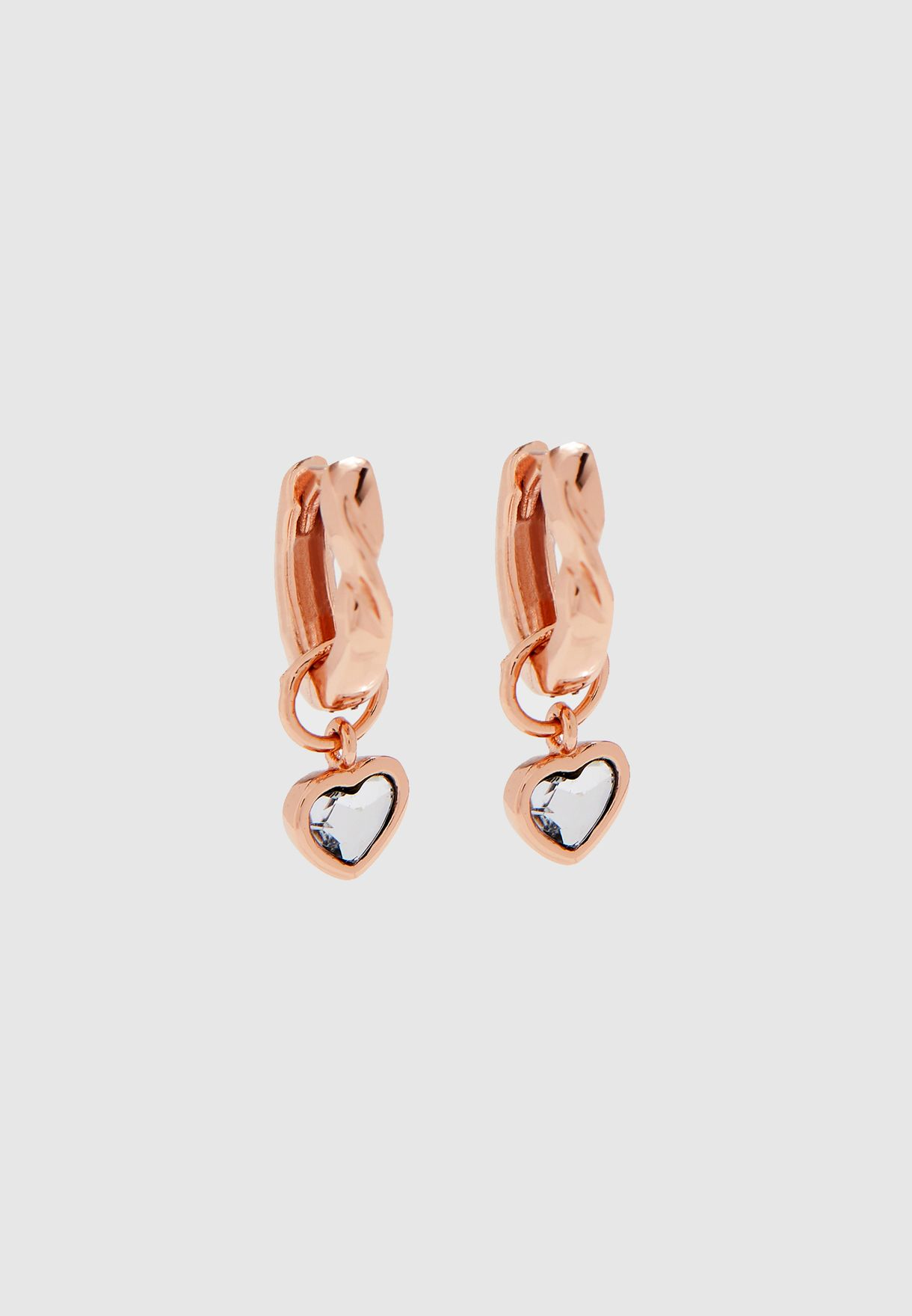 Interlink Heart Earrings+Bracelet Gift Set