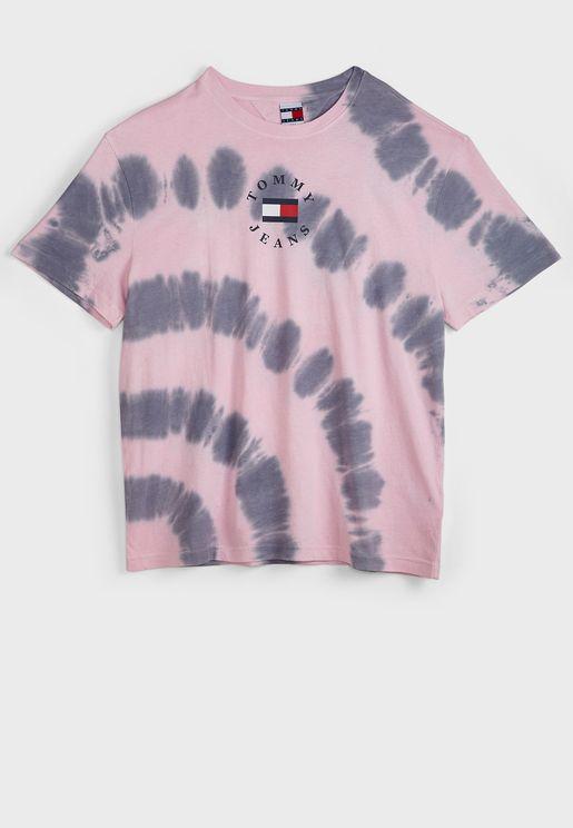 Tie Dyed Crew Neck T-Shirt