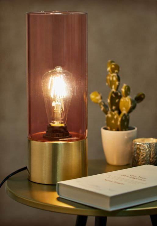 Pink Glass Table Lamp