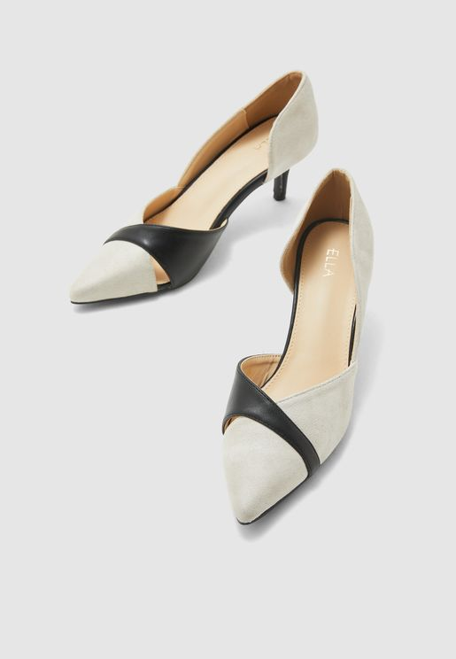 Colourblock Pointed Toe Pumps
