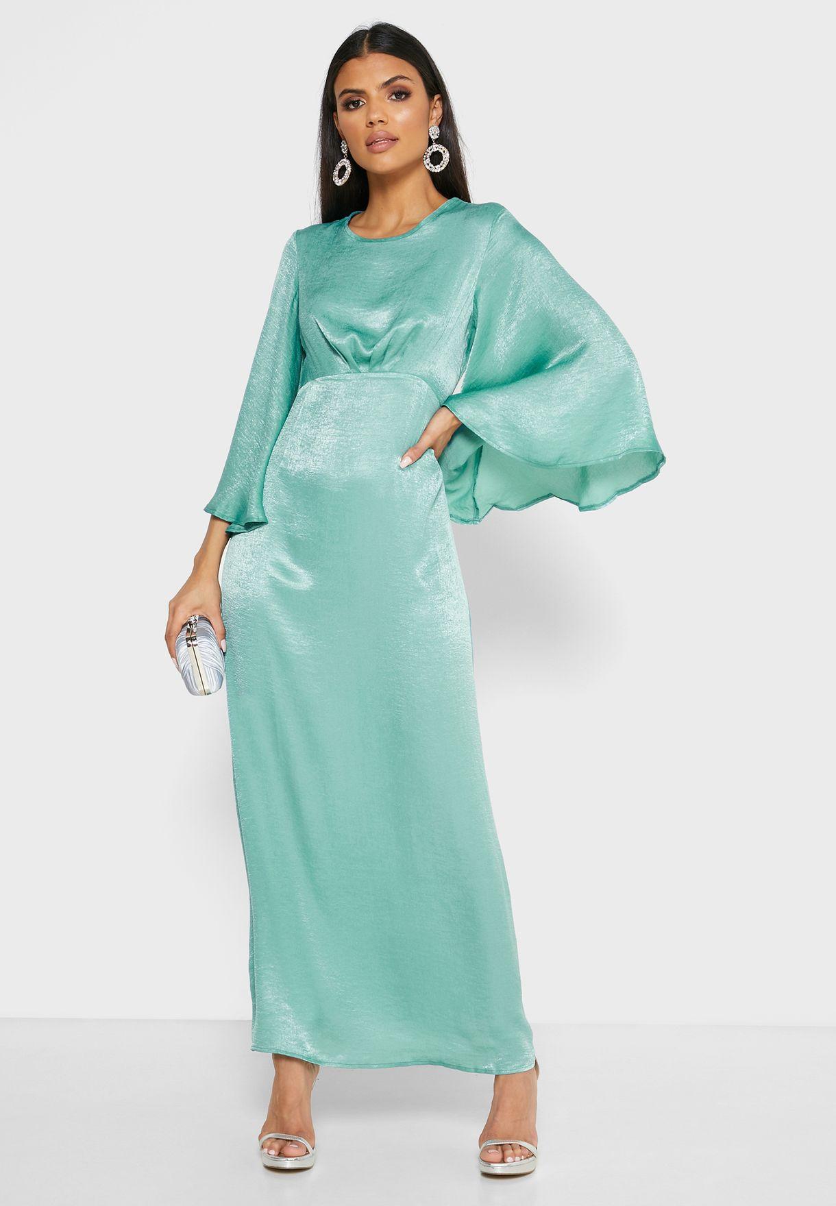 فستان مكسي باكمام طويلة