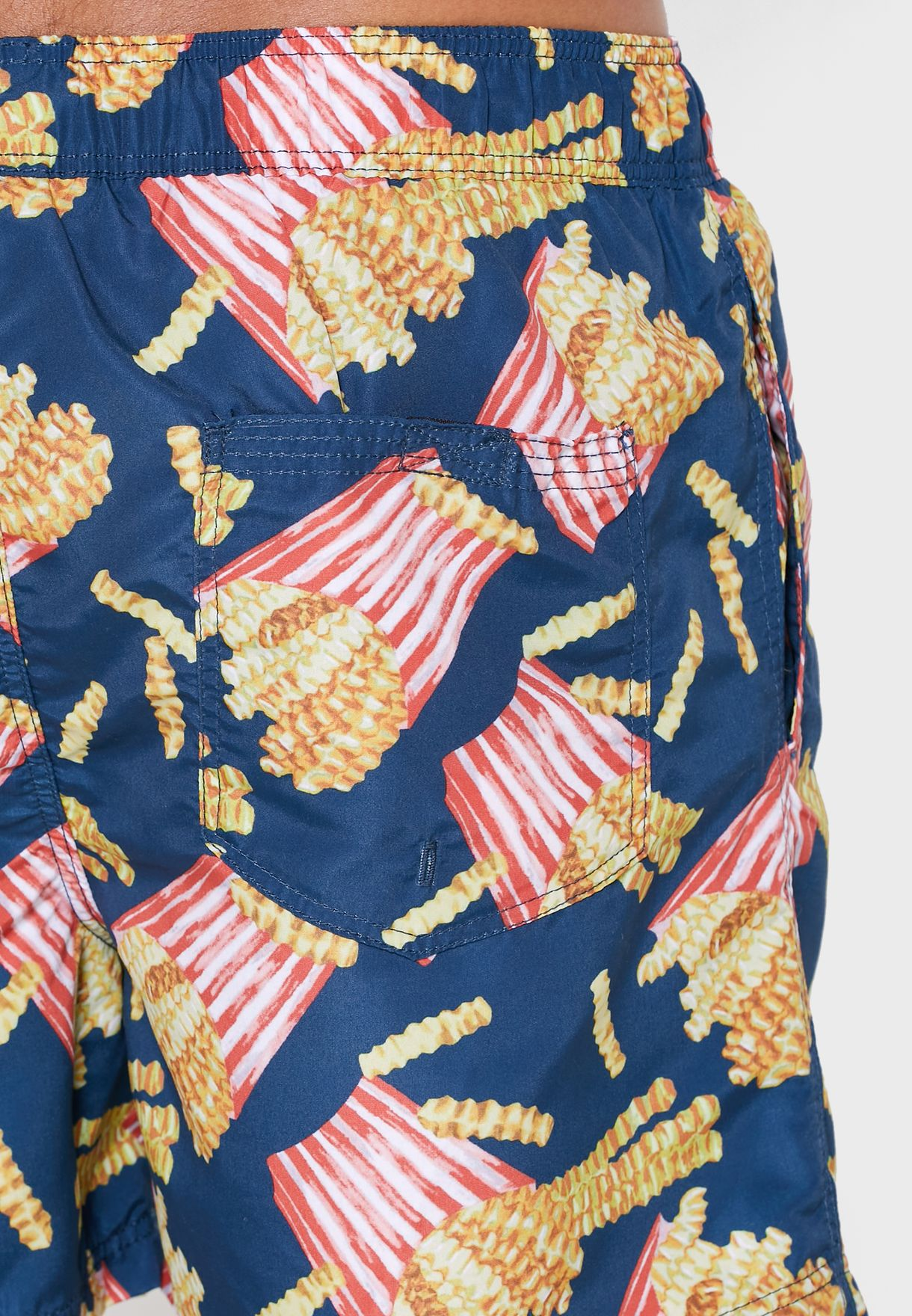 French Fries Print Swim Shorts